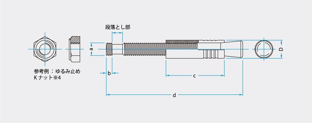 おねじ型あと施工アンカー 落下防止 FPMアンカー 特徴