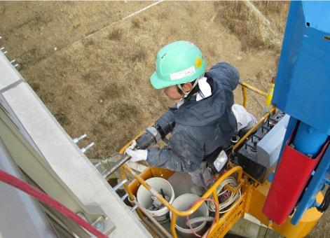 おねじ型あと施工アンカー 落下防止 FPMアンカー 施工例