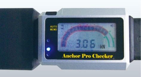 アンカー引張強度試験機 アンカープロチェッカー(APC) リアルタイムデジタル画面表示