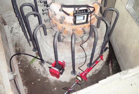 アンカー引張強度試験機 プロテスターTL 曲げ加工鉄筋アンカーの検査が可能
