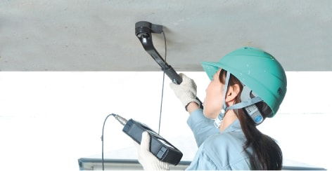 アンカー引張強度試験機 プロテスターTR 天井・壁面も楽々測定!
