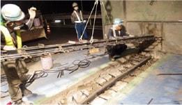 あと施工アンカーのトラスト 施工実績 コンクリート補修工事