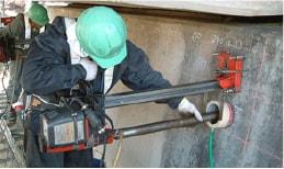 あと施工アンカーのトラスト 施工実績 各種コンクリート切断工事