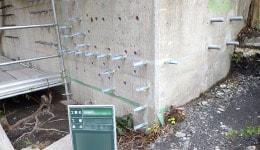 コンクリート補修工事 施工実績 ひび割れ注入工