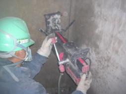 各種コンクリート切断工事 列車風対策整備工事 コアボーリング