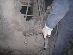 各種コンクリート切断工事 列車風対策整備工事 油圧ハンドクラッシャー