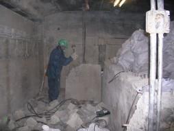 各種コンクリート切断工事 列車風対策整備工事 コンクリートガラ搬出