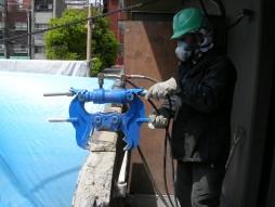 各種コンクリート切断工事 保育所増設工事 油圧ハンドクラッシャーにて解体