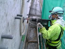 あと施工アンカー工事 交通安全施設工事 自動車道 高架橋環境対策工事 ドリル穿孔