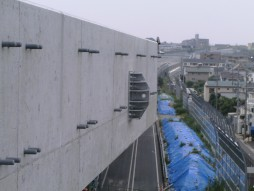 あと施工アンカー工事 交通安全施設工事 自動車道 高架橋環境対策工事 取付完了