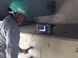 各種コンクリート切断工事 各種点検・診断 耐震補強工事(土木インフラ) 国道での高架橋外耐震補強工事 アンカー長さ試験