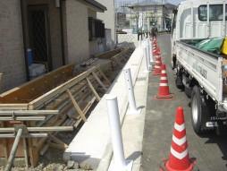 あと施工アンカー工事 交通安全施設工事 防護柵設置工事 施工前状況