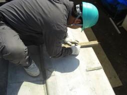 あと施工アンカー工事 交通安全施設工事 防護柵設置工事 墨出し