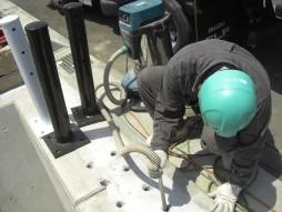 あと施工アンカー工事 交通安全施設工事 防護柵設置工事 清掃状況