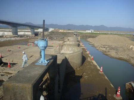 各種コンクリート切断工事 放水路改築第2期工事