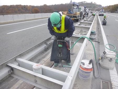 あと施工アンカー工事交通安全施設工事 各種点検・診断