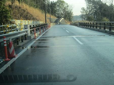 交通安全施設工事 安威川ダム 左岸道路安全施設設置工事
