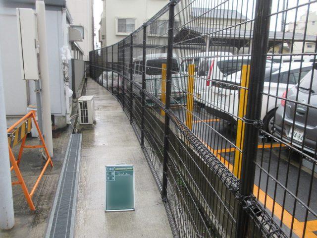 交通安全施設工事 松ヶ本自転車駐車場ほかフェンス設置工事