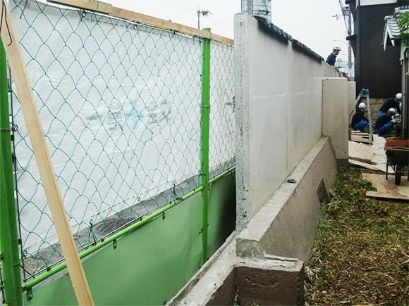 既設ブロック塀解体後状況